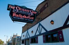 Der Rathskeller (in German Rathskeller means - the cellar of a town hall, often used as a beer hall or restaurant).