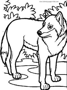 wolf coloring pages for kids | ... Wolves coloring pages and sheets can be found in the Wolves color page