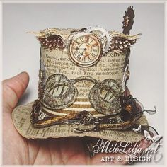 Milo Lilja - Art & Design and the hat reminds me of the madd hatter! Mode Steampunk, Steampunk Top Hat, Steampunk Crafts, Steampunk Design, Steampunk Clothing, Steampunk Fashion, Gothic Fashion, Steampunk Theme, Graphic 45