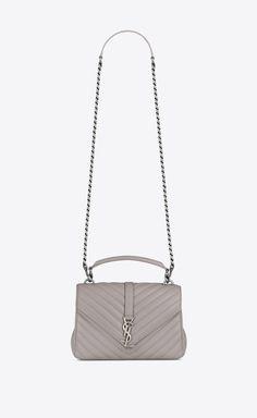 Gucci Clutch Bag, Ysl Bag, Crossbody Bag, Saint Laurent College Bag, Saint Laurent Store, Ysl College Bag Medium, College Bags, Saint Laurent Handbags, Powder Pink