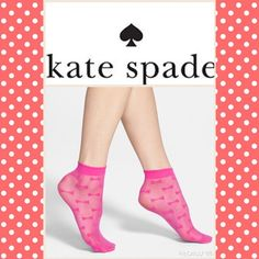 Kate Spade sheer Bow Tie Ankle Sock 5 available Super cute sheer socks bougainvillea (hot pink). Feel like silk on feet. So cute with heels or oxfords or even clear rain boots. Durable and sturdy. Brand New, Never worn. $9 each or $5 add on item to purchases $15+ . kate spade Shoes