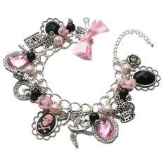 Gothic Princess - Gothic inspired charm bracelet by Cherished Trinkets