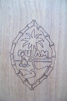 Woodburning or pyrography design that I burned on the Kamyo bench.