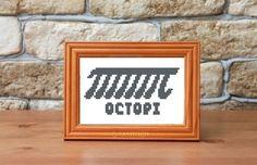Octopi Funny Cross Stitch