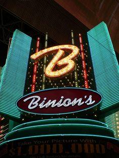 Binion's Horseshoe Casino in downtown Las Vegas vintage neon sign - photo by Debbie Jackson
