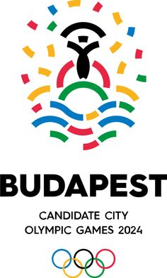 Budapest has recently unveiled its candidate city bidding logo design for the 2024 Summer Olympic Games. It is the last city to present its. City Branding, Logo Branding, Branding Design, Logo Design, Graphic Design, Packaging Design, Corporate Design, Olympic Logo, Summer Logo