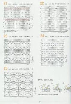 262 crochet patterns Beautiful crochet stitches and edgings. Filet Crochet Charts, Crochet Gratis, Crochet Motifs, Crochet Diagram, Crochet Stitches Patterns, Knitting Stitches, Crochet Designs, Free Crochet, Stitch Patterns