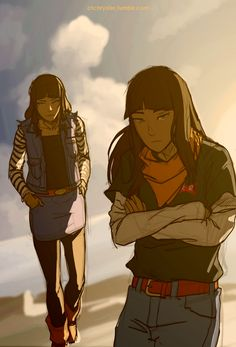 modern eska and desna. I've got to say, they seem alot less creepy once they lose the robes.