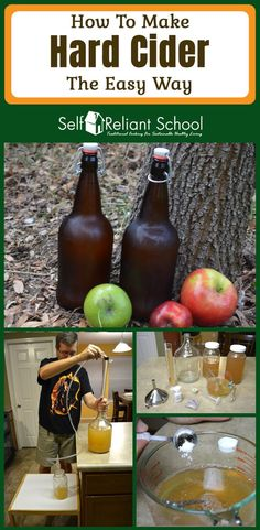 Step by step instructions on how to make hard apple cider at home with just a few simple ingredients and tools. #beselfreliant via @sreliantschool