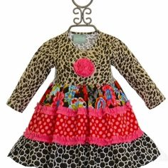 Sage and Lilly Dress Cheetah Dress from Freckles Children's Boutique for $49.00