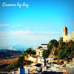 #Casares #ExperienceTheSpainYouNeverKnew The 3 Pillars of Hercules! Casares - birthplace of Blas Infante the man known as the father of Andalucian Nationalism - with Gibraltar and Jebel Musa in the distance (bottom left of image). One of the most breathtaking views in Europe! #TomaTours