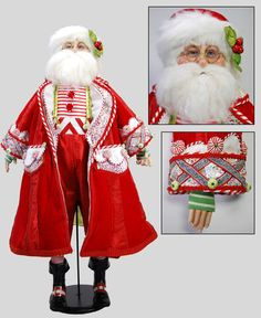 """Katherine's Collection Cuckoo Christmas Collection Approx 32"""" Santa Claus Doll Free Ship"""