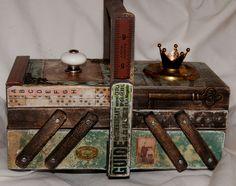 Altered Box | Nostalgic Curio altered sewing box: By Zuzu