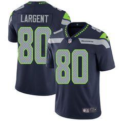 Nike Seahawks #80 Steve Largent Steel Blue Team Color Men's Stitched NFL Vapor Untouchable Limited Jersey