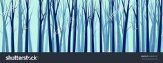 Wide Forest Background    - vector illustration