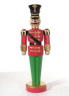 Soldat rot/grün/gold, vollplastisch, 50 cm tief, Gewicht 19 kg