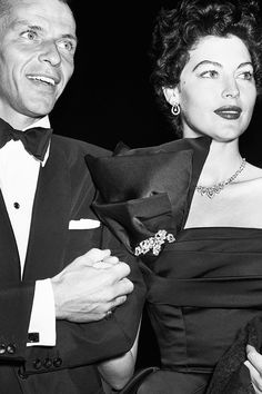 First public appearance for Frank Sinatra and Ava Gardner since Sinatras wife granted him a divorce