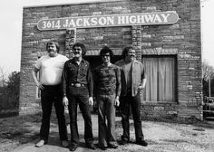 "Muscle Shoals Sound Recording Studio...Sheffield, AL....   Muscle Shoals Rhythm Section pictured left to right: Barry Beckett, Roger Hawkins, David Hood, Jimmy Johnson...also known as ""The Swampers"", of the Lynyrd Skynyrd song ""Sweet Home Alabama""."