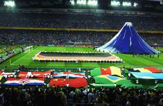 The closing ceremony before the World Cup Final match between Germany and Brazil played at the International Stadium, Yokohama, Japan.
