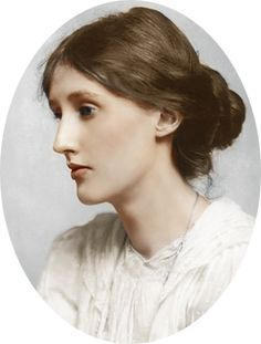 floriental: Virginia Woolf. Tinted photo.