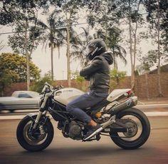Ducati Monster 696 Moto Bike, Cafe Racer Motorcycle, Monster 1100, Ducati Monster, Bike Life, Racing, Motorcycles, Vehicles, Café Racers