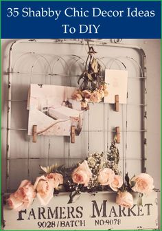 Shoddy chic design interest numerous due to the fact that it effortlessly combines ... However, if you've never pulled a room like this together previ... Shabby Chic Bedrooms, Shabby Chic Decor, Bedroom Sets, Bedroom Decor, Hanging Rail, Salvaged Wood, Place Card Holders, Diy, Inspiration