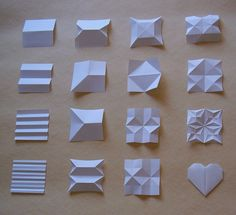 Uchiyama_B origami bases - Papier Origami Art Mural, Paper Crafts Origami, Paper Crafting, Architecture Origami, Origami Simple, Paper Folding Crafts, Origami And Kirigami, Origami Boxes, Origami Folding