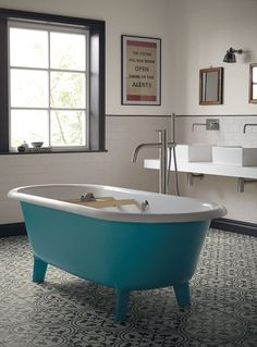 Salle de bains on pinterest fired earth tile and for Fired earth bathroom ideas