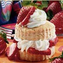 Season's Best Strawberry Shortcake - This version of the quintessential spring and summertime dessert, strawberry shortcake, is served with honey-sweetened strawberries and lusciously embellished whipped cream.