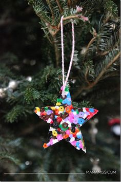 "Melted Bead Ornament to go along with the children's book ""Santa's New Jet"" - Let's READ & CRAFT!   