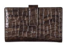 Damengeldbörse Taupe Lack Krokoprägung Golden Head Cayenne - Bags & more Rind, Bags, Taupe Colour, Leather, Handbags, Bag, Totes, Hand Bags