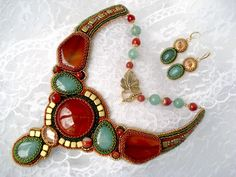 """""""Autumn"""" - bead-embroidery by Nelly Design"""