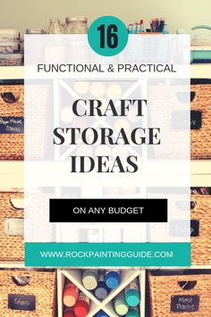 16 Practical and Functional Craft Storage Ideas for any budget! Craft Storage Solutions, Arts And Crafts Storage, Storage Ideas, Craft Paint Storage, Craft Organization, Organizing Tips, Diy Craft Projects, Crafts For Kids, Craft Ideas