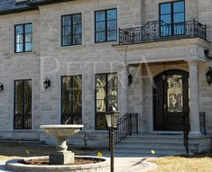 #decorativecornerstone #windowsurround #doorsurround #precastconcrete #caststone #windowsills #keystones #corbels #GFRC #columns #precastcolumns #exteriorcolumns #stoneporticos #caststoneporticos #precastporticos #precastcornices #precastconcrete #buildingsurround  Exquisite, petra design exterior products will set any building apart from the crowd! Visit our website for more products like this or speak to one of our advisers to get your custom design started! Exterior Products, Precast Concrete, Cast Stone, House Elevation, Big Houses, Home Photo, Columns, Petra, Interior And Exterior