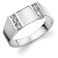 Men's eternity ring - I'd get this inladid with our birth stones either side and maybe engrave the mid panel
