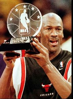 Air Jordan and another trophy.