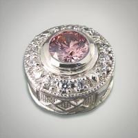 GK Coloures sterling silver fancy pink cubic zirconia round slide Metal:Sterling Silver Designer:Goldman-Kolber $ 140.00 Item #: X01DVD Call 870-863-8818 for personal consultation.