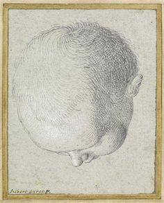 Albrecht Dürer - Tête d'enfant, vue du dessus