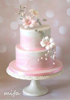 Zdielane f. Fab Cakes, Cute Cakes, Yummy Cakes, Beautiful Wedding Cakes, Beautiful Cakes, Amazing Cakes, Cool Cake Designs, Wedding Cake Designs, Fondant