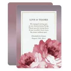 #wedding #thankyoucards - #Thank You for Attending Anniversary Party Cards