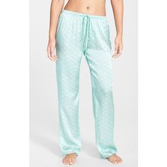 Women's Beautiful Bottoms London 'Panama' Satin Pajama Pants (188 CAD) ❤ liked on Polyvore featuring intimates, sleepwear, pajamas, satin sleepwear, satin pjs, satin pajamas, polka dot pajamas and pj pants