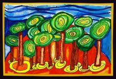 Check out student artwork posted to Artsonia from the Hundertwasser Landscape Line Design project gallery at Alum Creek Elementary School.