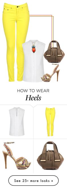 """Not mellow yellow!"" by lollahs on Polyvore featuring rag & bone, Hobbs, Chicnova Fashion and GUESS"