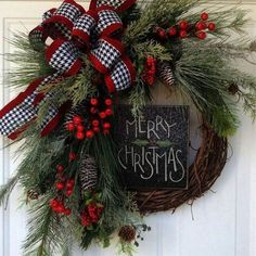 Fabulous DIY Home Front Door Decorating Ideas 046280 - Holiday wreaths christmas,Holiday crafts for kids to make,Holiday cookies christmas, Christmas Wreaths To Make, Christmas Door, Country Christmas, Holiday Wreaths, Christmas Holidays, Christmas Crafts, Christmas Decorations, Christmas Ornaments, Christmas Ideas