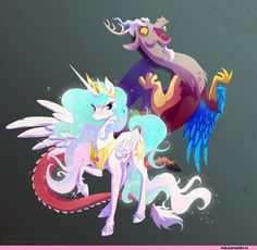 my little pony,,Discord,Princess Celestia