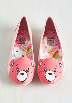 Face Your Cheers Flat in Pink. Proclaim your proclivity for positivity by sporting these Care Bear ballet flats! #pink #modcloth