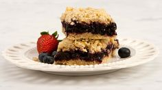 Blueberry Oatmeal Squares - Recipes - Best Recipes Ever - Chewy and packed with blueberries, it's hard to resist these sweet, simple squares.