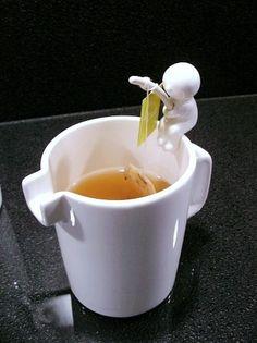 Le pêcheur de sachet de thé