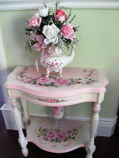 Beautiful....could be hand painted or use decals or decoupage.  Striking redo.
