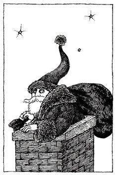 Edward Gorey Santa